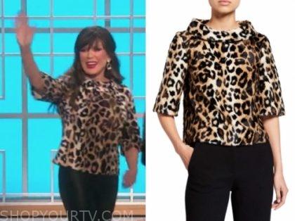 marie osmond's leopard top