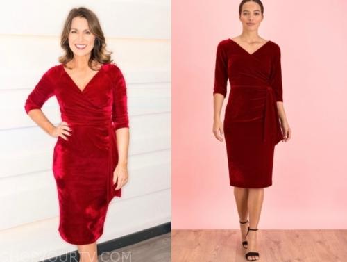 susanna reid's red velvet dress