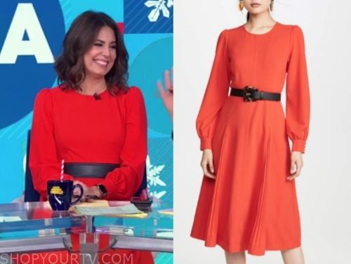 cecilia vega's red midi dress