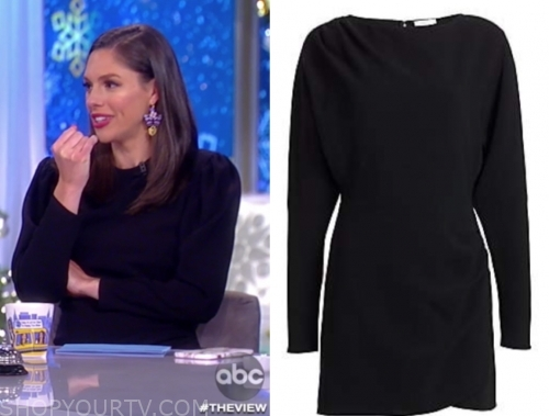abby huntsman's black sweater dress
