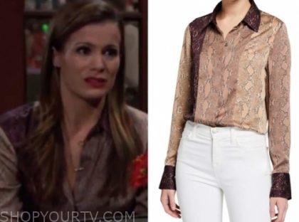 chelsea's brown snakeskin blouse
