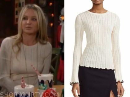sharon newman's ivory sweater