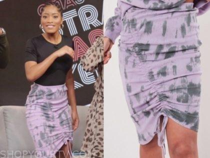 keke palmer's purple tie dye skirt