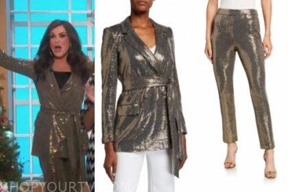 marie osmond's gold sequin pant suit