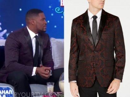 michael strahan's jacquard blazer
