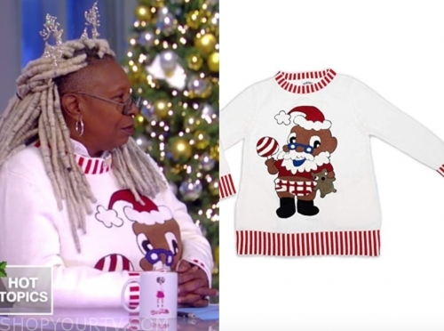 whoopi goldberg's santa sweater