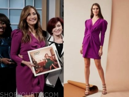 carrie ann inaba's purple twist dress