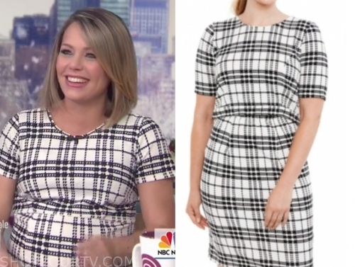 dylan dreyer's plaid maternity dress