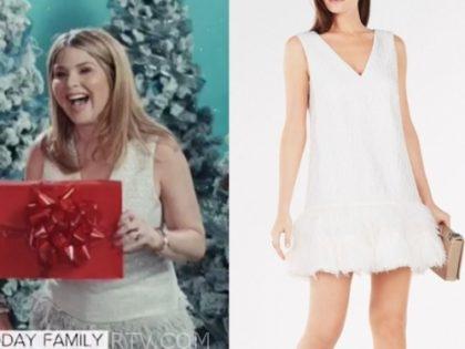 jenna bush hager's white feather dress