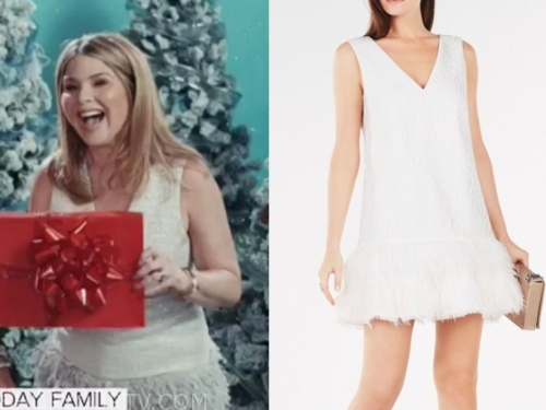 jenna bush hager's white feather dress