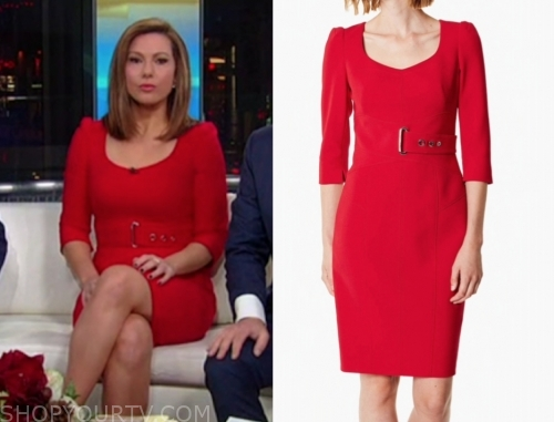 lisa boothe's red belted sheath dress