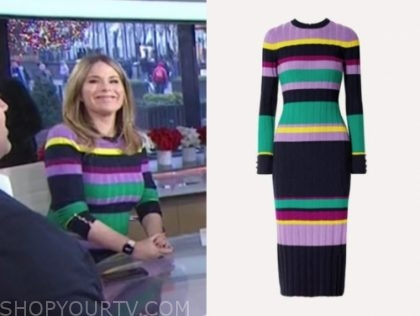 jenna bush hager's striped knit midi dress