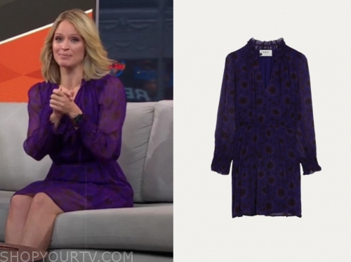 sara haines's purple floral dress