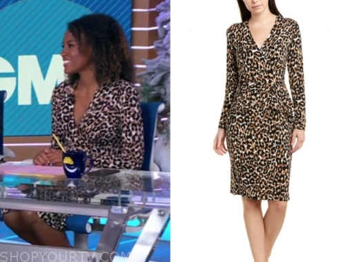 janai norman's leopard dress