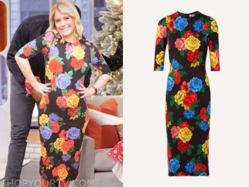 sara haines's floral sheath dress