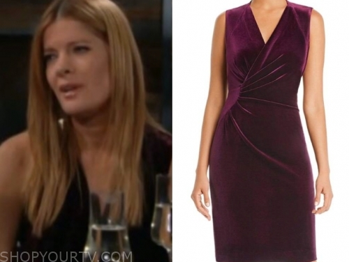 phyllis's velvet sheath dress