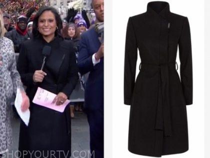 kristen welker's black coat