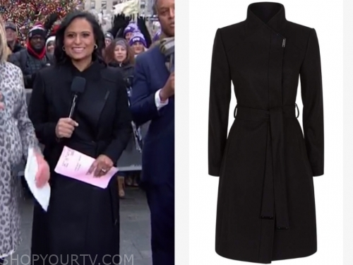kristen welker's black coat