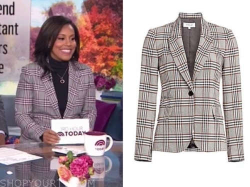 sheinelle jones's plaid blazer