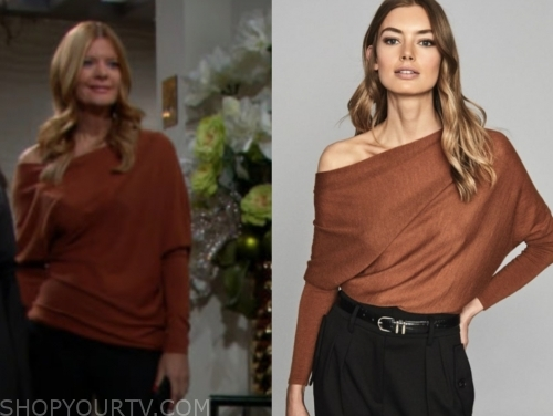 phyllis's rust sweater