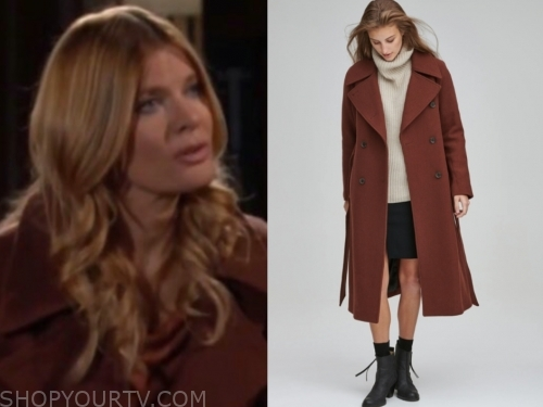 phyllis newman's brown coat