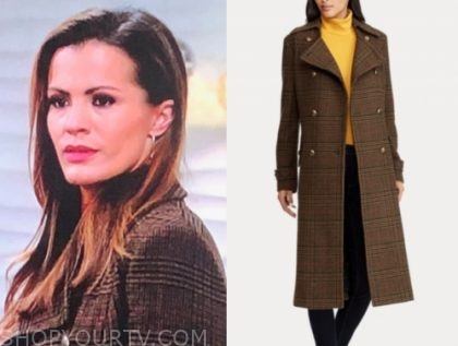 chelsea newman's plaid coat