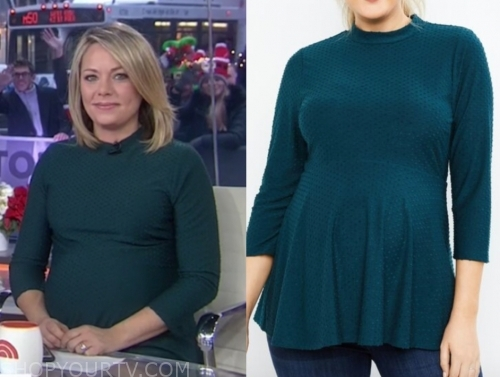 dylan dreyer's green dot maternity top