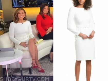 lisa boothe's white belted sheath dress