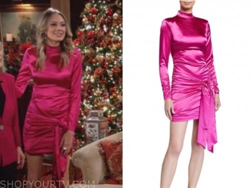 abby newman's pink drape mini dress
