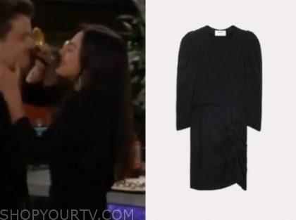lola rosales's black dress