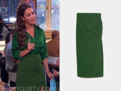 jessica mulroney's green pencil skirt