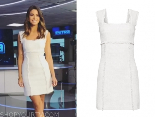 jennifer lahmers's white tweed dress