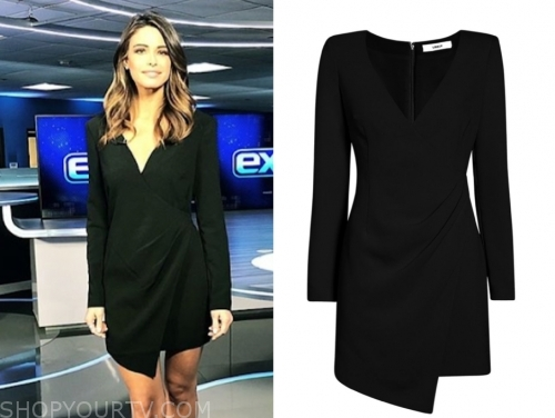 jennifer lahmers's black wrap mini dress