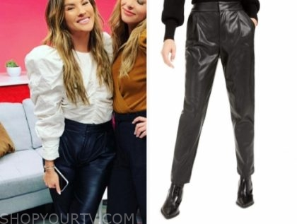 becca tilley's black leather pants