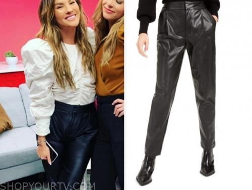 becca tilley's black leather pants