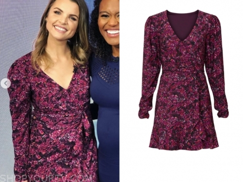 andrea boehlke's pink floral dress