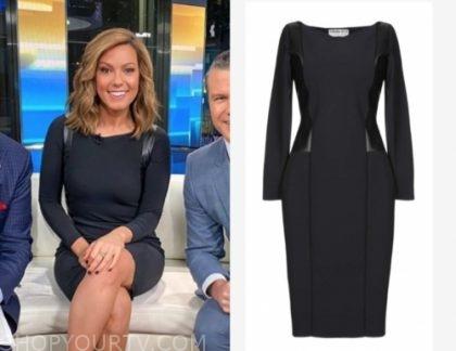 lisa boothe's black leather panel sheath dress