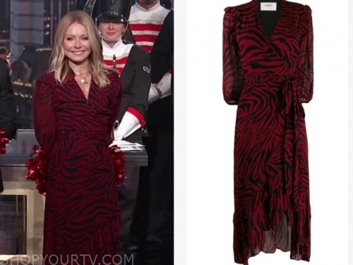 kelly ripa's red zebra midi dress