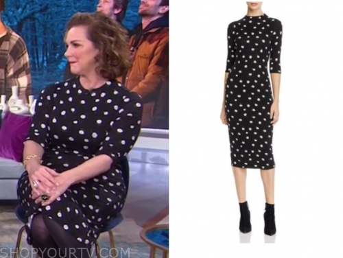 elizabeth perkins's black daisy dress
