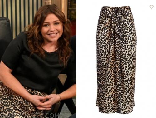rachael ray's leopard skirt