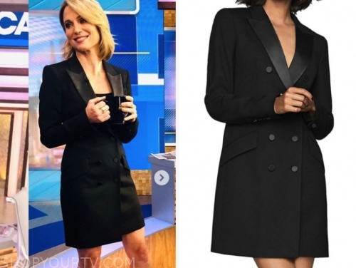 amy robach's black blazer dress