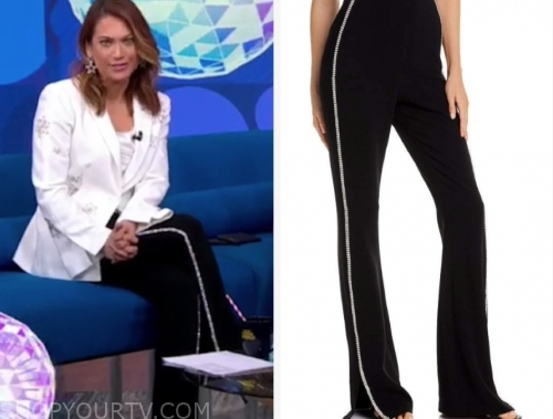 ginger zee's black rhinestone pants