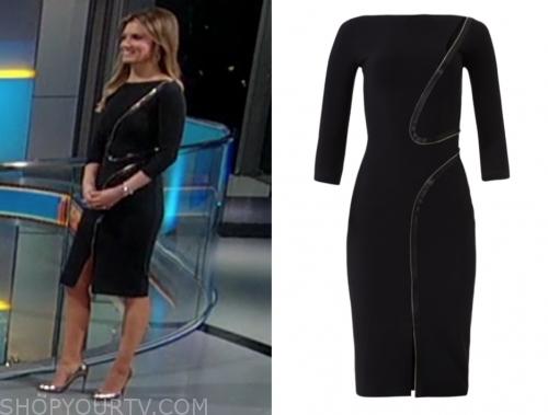 jillian mele's black zipper sheath dress