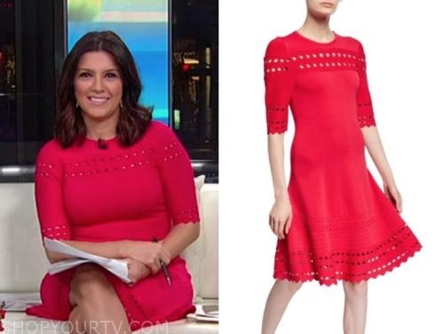 rachel campos duffy's pink pointelle dress