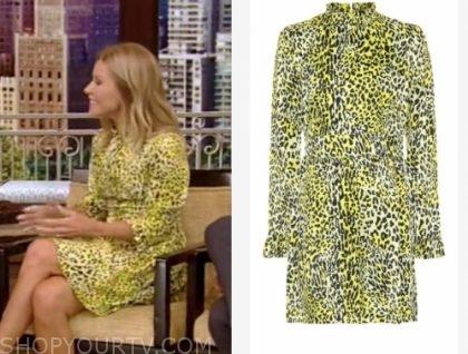 kelly ripa's yellow leopard dress