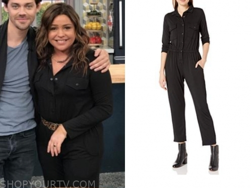 rachael ray's black jumpsuit