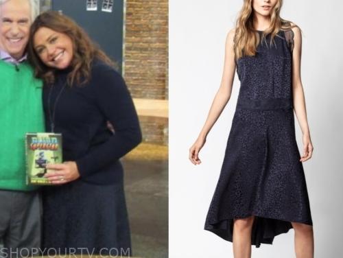 rachael ray's navy blue jacquard dress