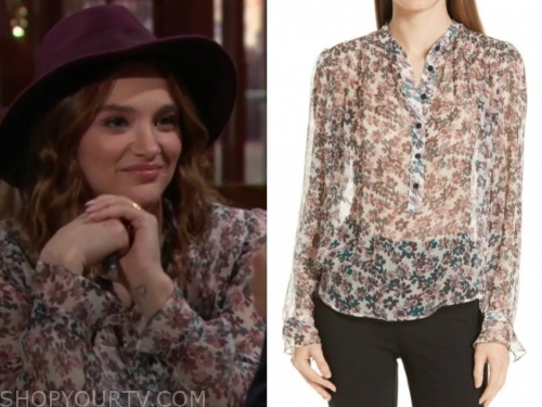 summer newman's floral blouse