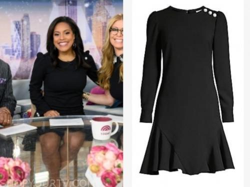 sheinelle jones's black pearl dress