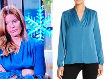 phyllis newman's blue blouse